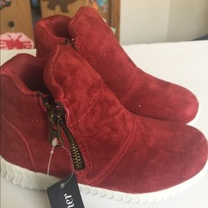 LEATHER GIRL'S size 11 red boots